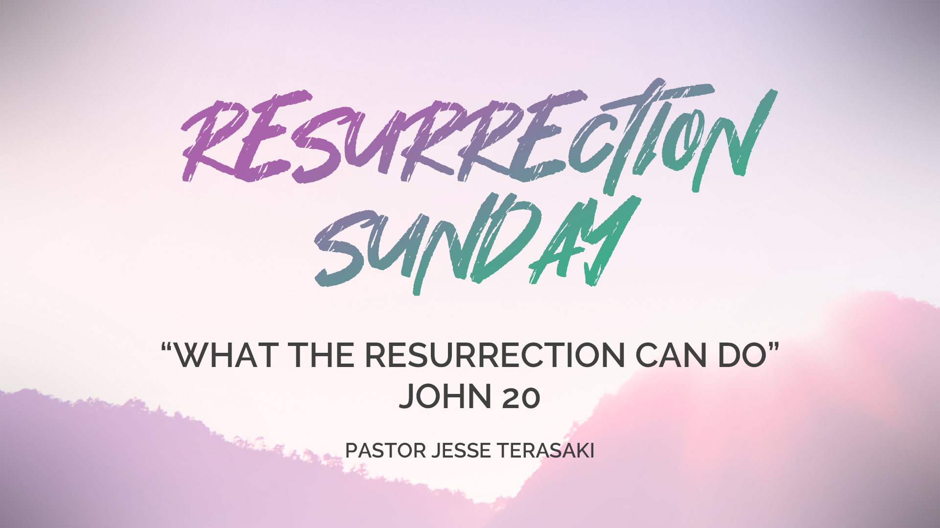 What The Resurrection Can Do